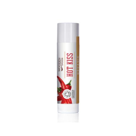 Wooden Spoon Bio ajakbalzsam - Forró csók (4,3 ml)