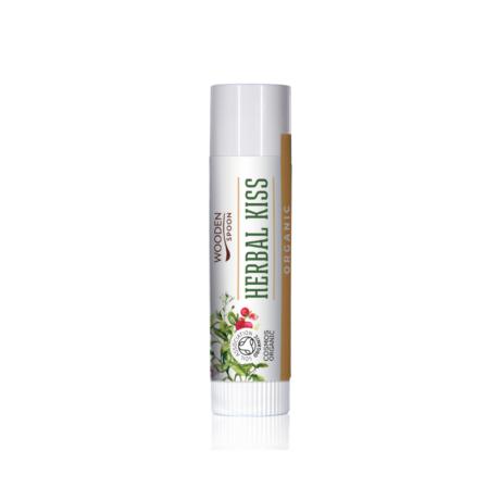 Wooden Spoon Bio ajakbalzsam - Herbal kiss (4,3 ml)