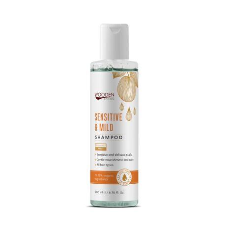 Wooden Spoon Bio sampon - érzékeny, irritált fejbőrre (200 ml)