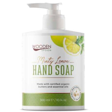 Wooden Spoon Bio folyékony kézmosó szappan – menta, citronella (300 ml)